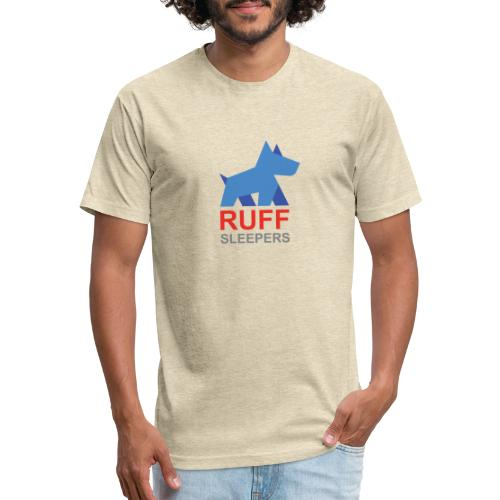 ruffsleepers logo 01 - Fitted Cotton/Poly T-Shirt by Next Level