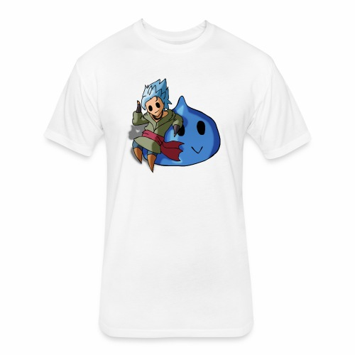 cute video game character - Fitted Cotton/Poly T-Shirt by Next Level