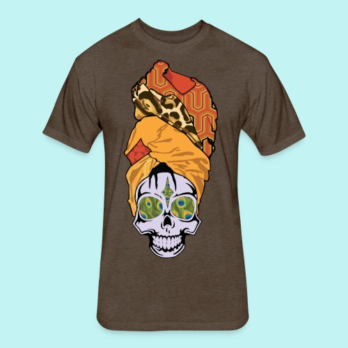 ERYKAH BADU SKULLY - Fitted Cotton/Poly T-Shirt by Next Level