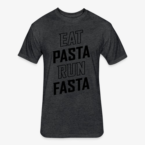 Eat Pasta Run Fasta v2 - Fitted Cotton/Poly T-Shirt by Next Level