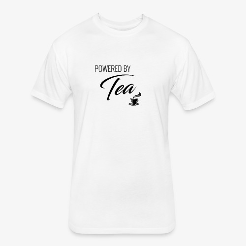 Powered by Tea - Fitted Cotton/Poly T-Shirt by Next Level