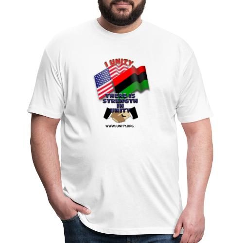us afro E02 - Fitted Cotton/Poly T-Shirt by Next Level