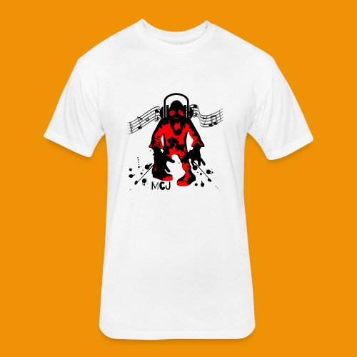 Music Zombie - Fitted Cotton/Poly T-Shirt by Next Level