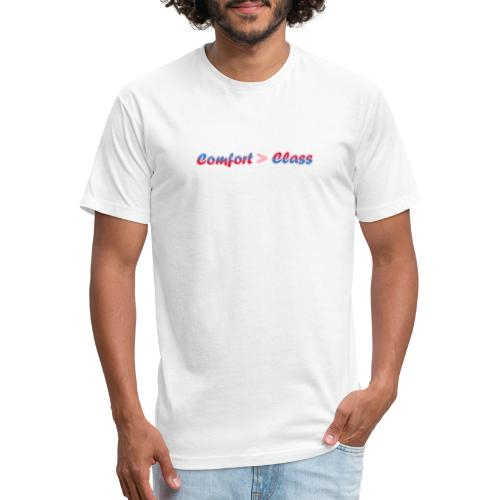 Comfort over Class - Fitted Cotton/Poly T-Shirt by Next Level