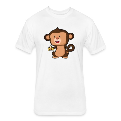 Baby Monkey - Fitted Cotton/Poly T-Shirt by Next Level