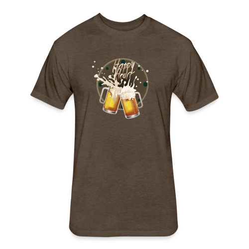 Happy hour - Fitted Cotton/Poly T-Shirt by Next Level