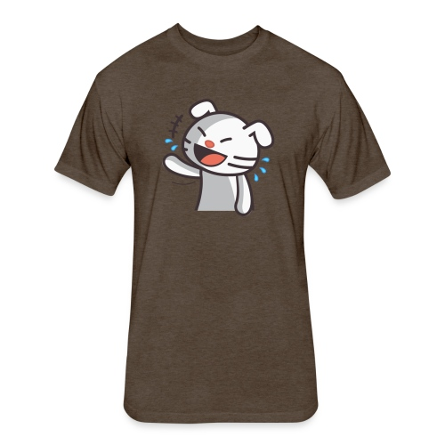 Laughing Cat - Fitted Cotton/Poly T-Shirt by Next Level