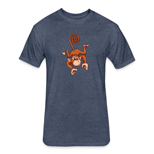 Cheeky Monkey - Fitted Cotton/Poly T-Shirt by Next Level