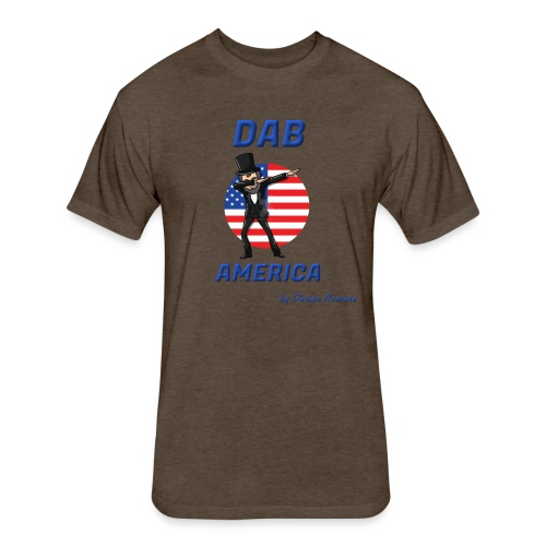 DAB AMERICA BLUE - Fitted Cotton/Poly T-Shirt by Next Level