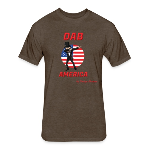 DAB AMERICA RED - Fitted Cotton/Poly T-Shirt by Next Level