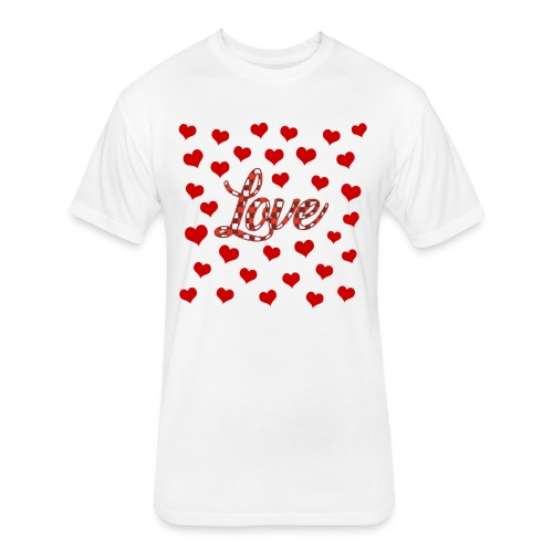 VALENTINES DAY GRAPHIC 3 - Fitted Cotton/Poly T-Shirt by Next Level