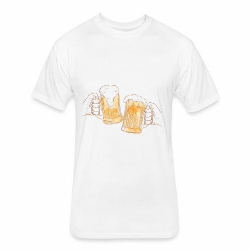 Beer Party - Fitted Cotton/Poly T-Shirt by Next Level