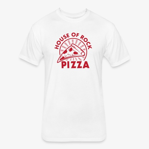 HOR Pizza Red - Fitted Cotton/Poly T-Shirt by Next Level