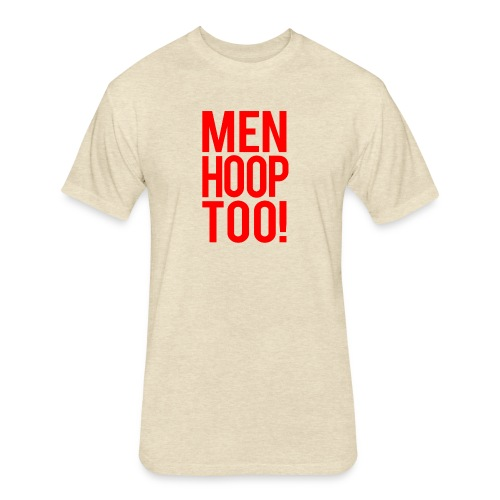 Red - Men Hoop Too! - Fitted Cotton/Poly T-Shirt by Next Level