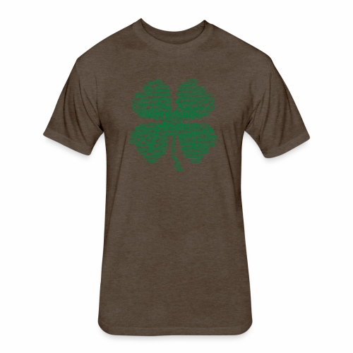Shamrock Word Cloud - Fitted Cotton/Poly T-Shirt by Next Level