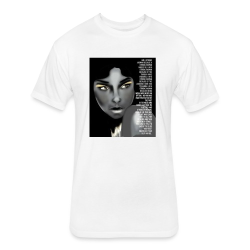 Strong woman - Fitted Cotton/Poly T-Shirt by Next Level