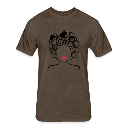 Global Couture logo_curly girl Phone & Tablet Case - Fitted Cotton/Poly T-Shirt by Next Level