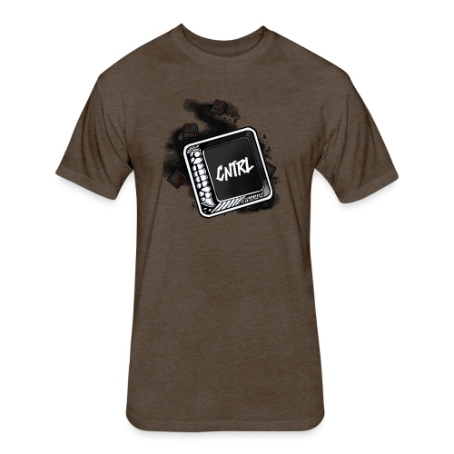 New CNTRL Logo - Fitted Cotton/Poly T-Shirt by Next Level