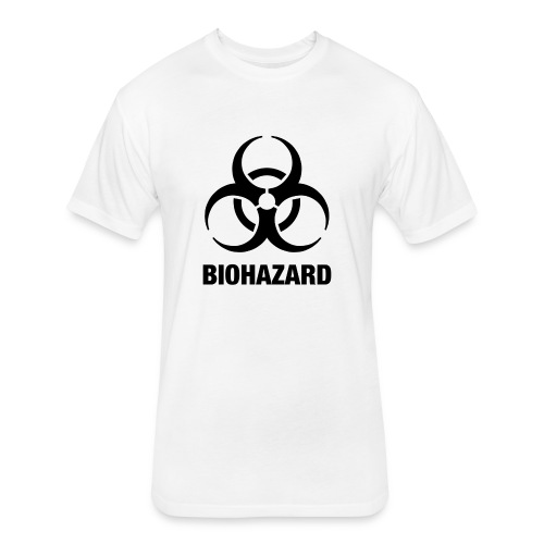 Biohazard - Fitted Cotton/Poly T-Shirt by Next Level