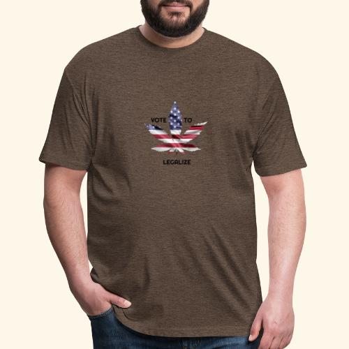 VOTE TO LEGALIZE - AMERICAN CANNABISLEAF SUPPORT - Fitted Cotton/Poly T-Shirt by Next Level