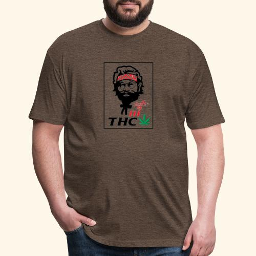 THC MEN - THC SHIRT - FUNNY - Fitted Cotton/Poly T-Shirt by Next Level