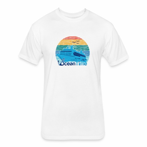 Ocean Time - Fitted Cotton/Poly T-Shirt by Next Level