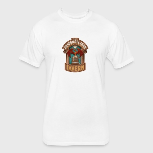 the dragons flagon tavern dragon fantasy - Fitted Cotton/Poly T-Shirt by Next Level