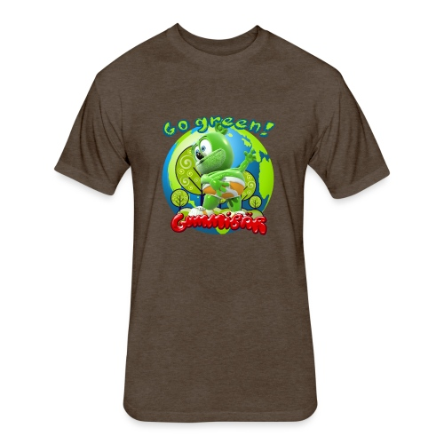 Gummibär Go Green Earth Day Earth - Fitted Cotton/Poly T-Shirt by Next Level
