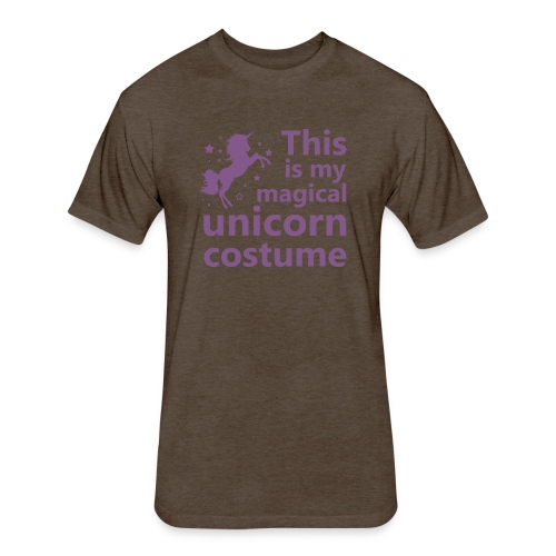 This is my magical unicorn costume - Fitted Cotton/Poly T-Shirt by Next Level