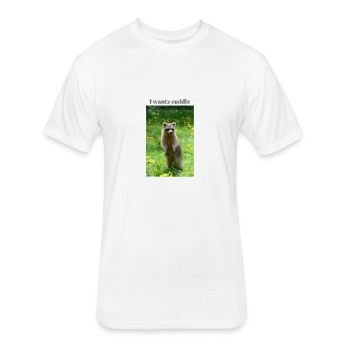 Raccoon ,I wantz cuddlz t-shirt - Fitted Cotton/Poly T-Shirt by Next Level