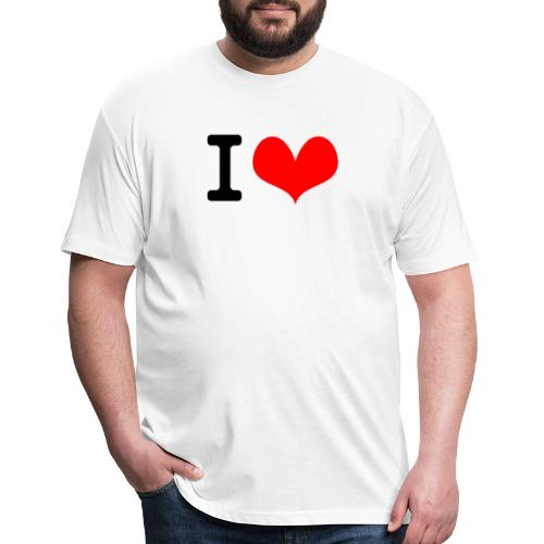 I Love what - Fitted Cotton/Poly T-Shirt by Next Level