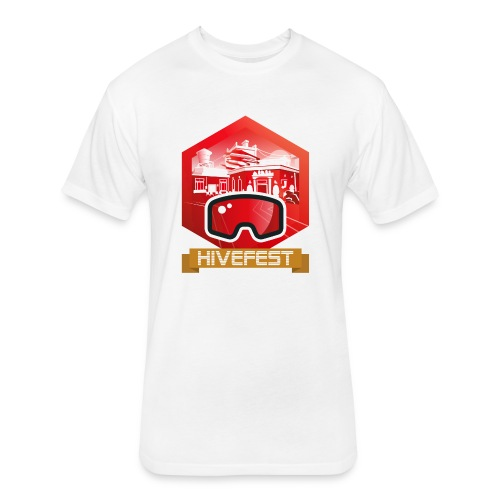 HiveFest V Banner - Fitted Cotton/Poly T-Shirt by Next Level