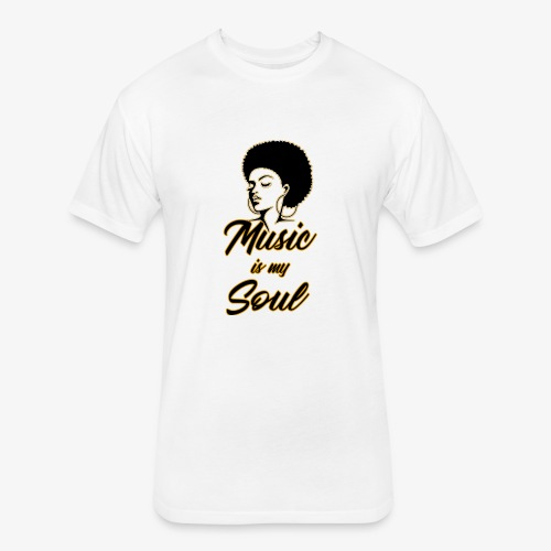 Music Is My Soul 2 - Fitted Cotton/Poly T-Shirt by Next Level