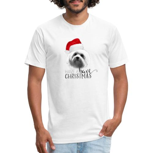 Have A Havi Christmas! - Fitted Cotton/Poly T-Shirt by Next Level