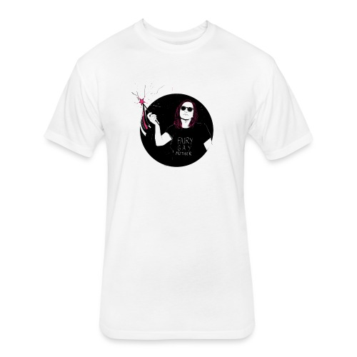 Fairy Gaymother with Wand - Fitted Cotton/Poly T-Shirt by Next Level