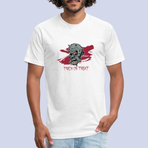Halloween Zombie Trick or Treat - Fitted Cotton/Poly T-Shirt by Next Level