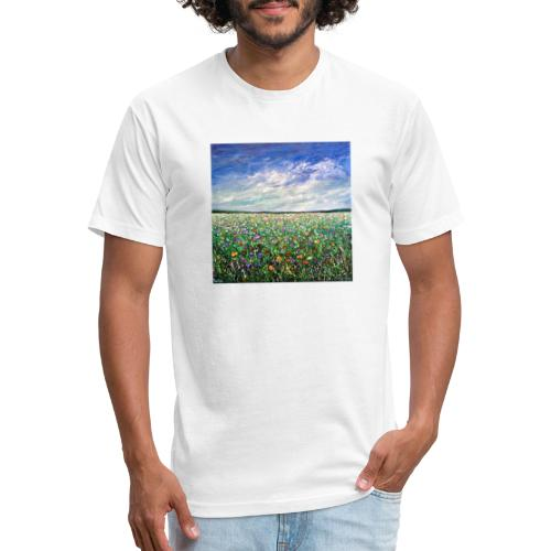 Field of Flowers - Fitted Cotton/Poly T-Shirt by Next Level