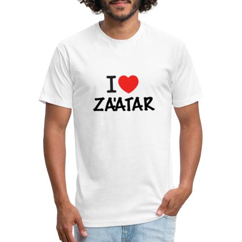 i love zaatar 1 - Fitted Cotton/Poly T-Shirt by Next Level