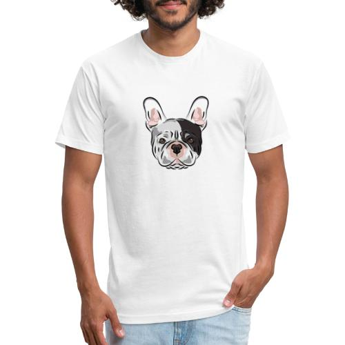 pngtree french bulldog dog cute pet - Fitted Cotton/Poly T-Shirt by Next Level