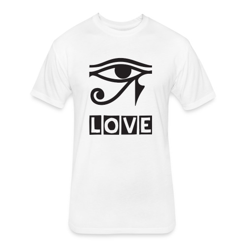EYE LOVE DSGN TRNSP - Fitted Cotton/Poly T-Shirt by Next Level