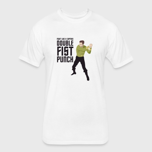 Captain Kirk Double Fist Punch - Fitted Cotton/Poly T-Shirt by Next Level
