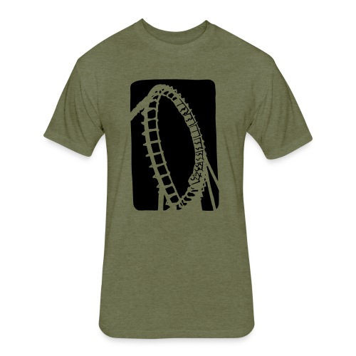 Roller Coaster - Fitted Cotton/Poly T-Shirt by Next Level
