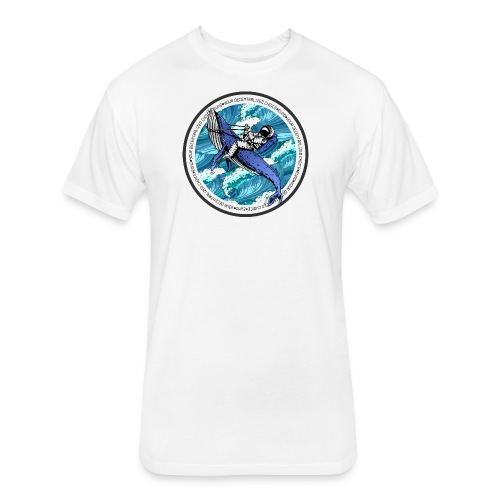 Astronaut Whale - Fitted Cotton/Poly T-Shirt by Next Level