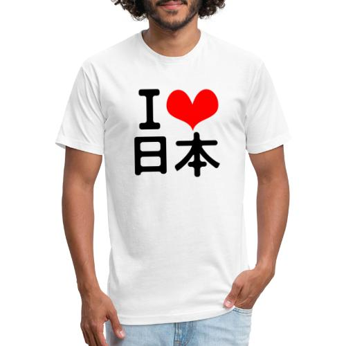 I Love Japan - Fitted Cotton/Poly T-Shirt by Next Level