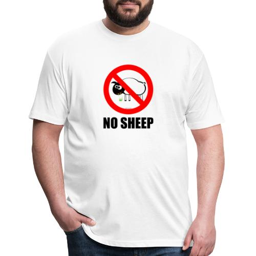 NO SHEEP™ TEE - Fitted Cotton/Poly T-Shirt by Next Level