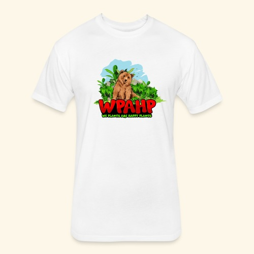 We Plants Are Happy Plants - Bear Logo - Fitted Cotton/Poly T-Shirt by Next Level