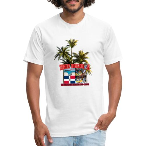 TRUE RELIGION DR INSPIRED - Fitted Cotton/Poly T-Shirt by Next Level
