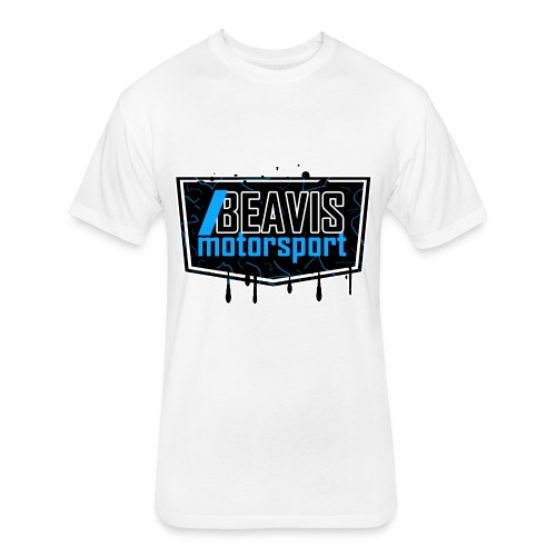 BEAVIS Motorsport Badge Logo - Fitted Cotton/Poly T-Shirt by Next Level