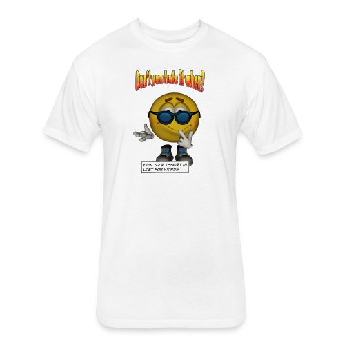 Lost For Words - Fitted Cotton/Poly T-Shirt by Next Level