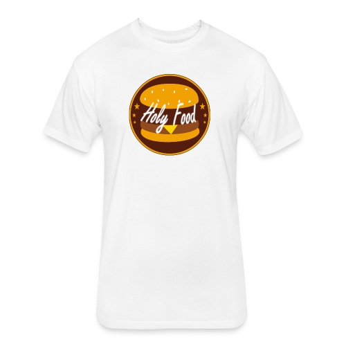 Holy food logo - Fitted Cotton/Poly T-Shirt by Next Level